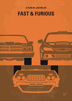 Digital Art - No207-4 My Fast And Furious Minimal Movie Poster by Chungkong Art