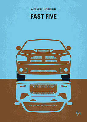 Digital Art - No207-5 My Fast Five Minimal Movie Poster by Chungkong Art
