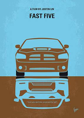 No207-5 My Fast Five Minimal Movie Poster Art Print