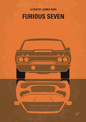 Digital Art - No207-7 My Furious 7 Minimal Movie Poster by Chungkong Art