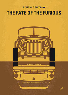 No207-8 My The Fate Of The Furious Minimal Movie Poster Art Print