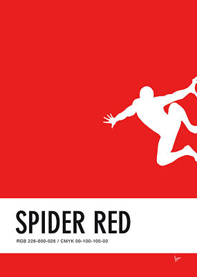 Spider Digital Art - No24 My Minimal Color Code Poster Spiderman by Chungkong Art