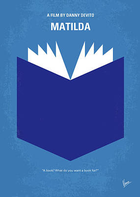 Genius Wall Art - Digital Art - No291 My Matilda Minimal Movie Poster by Chungkong Art