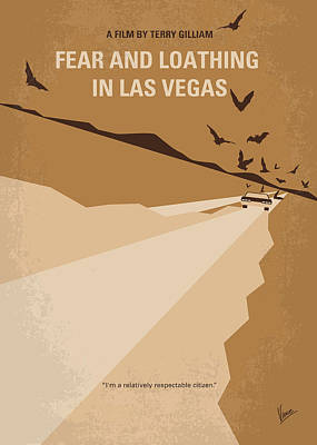 Psychedelic Digital Art - No293 My Fear And Loathing Las Vegas Minimal Movie Poster by Chungkong Art