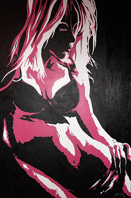 Balck Art Painting - No.3 by Matthew Fitzke