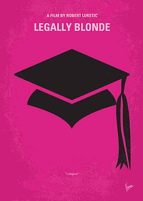 Blondes Digital Art - No301 My Legally Blonde Minimal Movie Poster by Chungkong Art