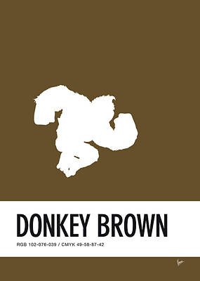 Peach Digital Art - No37 My Minimal Color Code Poster Donkey Kong by Chungkong Art