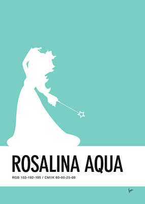 Peaches Digital Art - No39 My Minimal Color Code Poster Rosalina by Chungkong Art