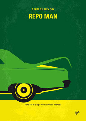 Trunk Digital Art - No478 My Repo Man Minimal Movie Poster by Chungkong Art