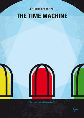 Species Digital Art - No489 My The Time Machine Minimal Movie Poster by Chungkong Art