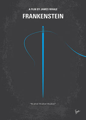 Frankenstein Digital Art - No483 My Frankenstein Minimal Movie Poster by Chungkong Art