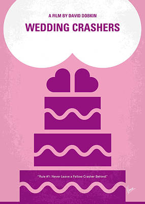 Wilson Digital Art - No437 My Wedding Crashers Minimal Movie Poster by Chungkong Art