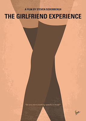 Minimal Art Photograph - No438 My The Girlfriend Experience Minimal Movie Poster by Chungkong Art