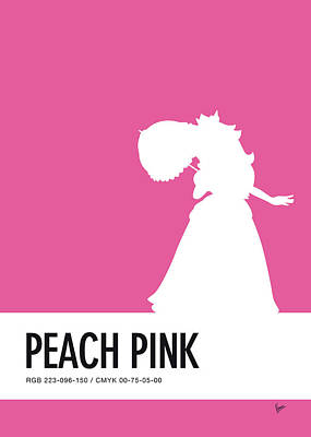 Peach Digital Art - No44 My Minimal Color Code Poster Peach by Chungkong Art