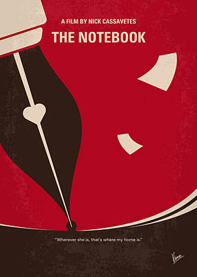 Noah Digital Art - No440 My The Notebook Minimal Movie Poster by Chungkong Art