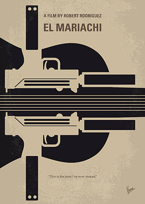 No445 My El Mariachi Minimal Movie Poster Art Print