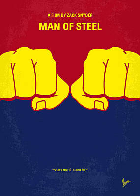 Planet Digital Art - No447 My Men Of Steel Minimal Movie Poster by Chungkong Art