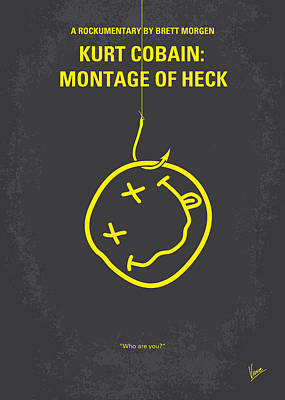 Kurt Cobain Digital Art - No448 My Montage Of Heck Minimal Movie Poster by Chungkong Art