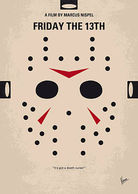 Crystal Digital Art - No449 My Friday The 13th Minimal Movie Poster by Chungkong Art