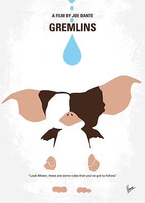 No451 My Gremlins Minimal Movie Poster Print by Chungkong Art