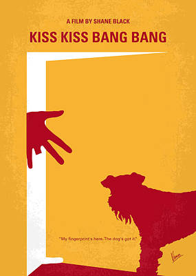 No452 My Kiss Kiss Bang Bang Minimal Movie Poster Art Print by Chungkong Art