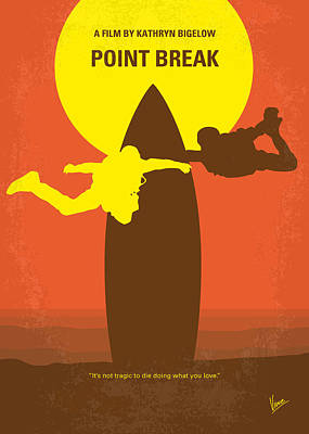 Broken Digital Art - No455 My Point Break Minimal Movie Poster by Chungkong Art