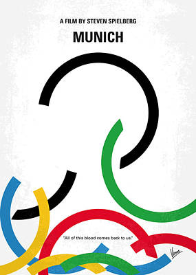Olympic Digital Art - No460 My Munich Minimal Movie Poster by Chungkong Art
