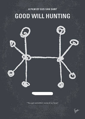 South Digital Art - No461 My Good Will Hunting Minimal Movie Poster by Chungkong Art