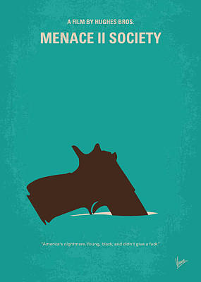 Escape Digital Art - No484 My Menace II Society Minimal Movie Poster by Chungkong Art