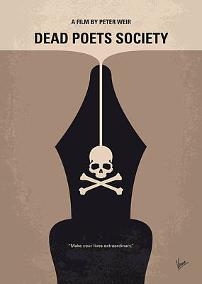 No486 My Dead Poets Society Minimal Movie Poster Art Print by Chungkong Art