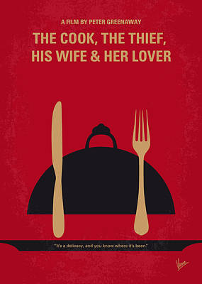 Thieves Digital Art - No487 My The Cook The Thief His Wife And Her Lover Minimal Movie by Chungkong Art