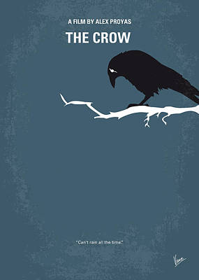 Land Digital Art - No488 My The Crow Minimal Movie Poster by Chungkong Art