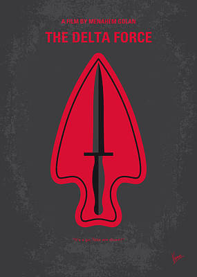 No493 My The Delta Force Minimal Movie Poster Art Print