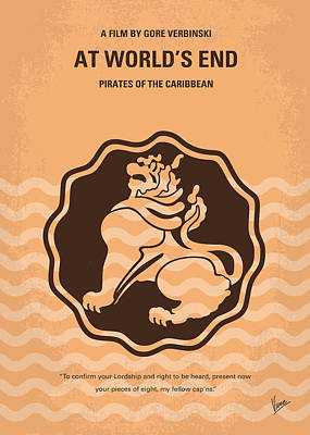 Calypso Digital Art - No494-3 My Pirates Of The Caribbean IIi Minimal Movie Poster by Chungkong Art