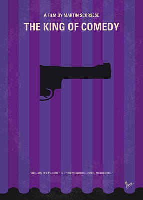 No496 My The King Of Comedy Minimal Movie Poster Print by Chungkong Art