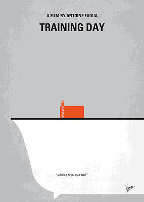 P Digital Art - No497 My Training Day Minimal Movie Poster by Chungkong Art