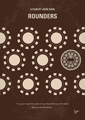 Las Vegas Digital Art - No503 My Rounders Minimal Movie Poster by Chungkong Art