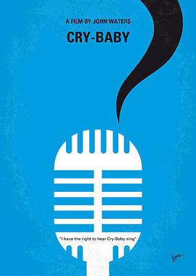 Baltimore Digital Art - No505 My Cry-baby Minimal Movie Poster by Chungkong Art