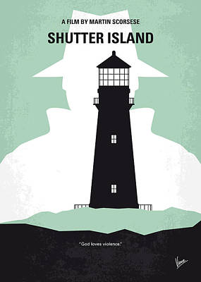 50s Digital Art - No513 My Shutter Island Minimal Movie Poster by Chungkong Art