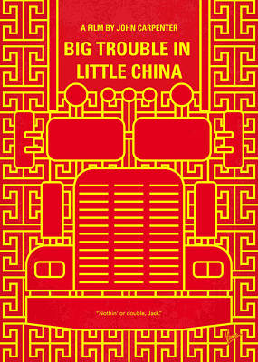 Big Digital Art - No515 My Big Trouble In Little China Minimal Movie Poster by Chungkong Art