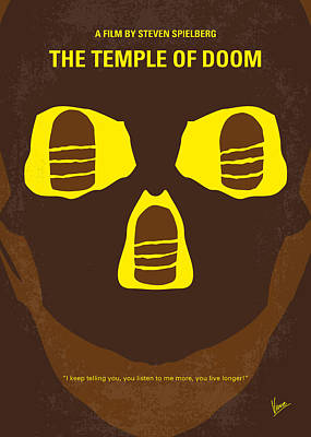 Round Digital Art - No517 My The Temple Of Doom Minimal Movie Poster by Chungkong Art