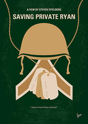 Brothers Digital Art - No520 My Saving Private Ryan Minimal Movie Poster by Chungkong Art