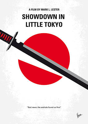 No522 My Showdown In Little Tokyo Minimal Movie Art Print