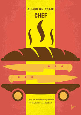 Chef Digital Art - No524 My Chef Minimal Movie Poster by Chungkong Art