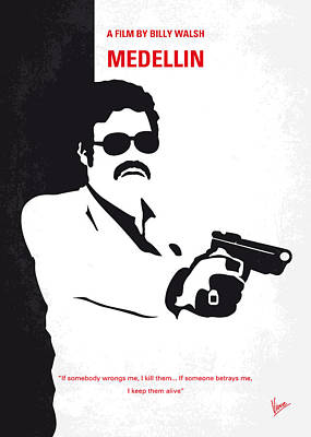 Drugs Digital Art - No526 My Medellin Minimal Movie Poster by Chungkong Art