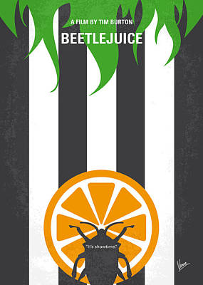 Tim Digital Art - No531 My Beetlejuice Minimal Movie Poster by Chungkong Art