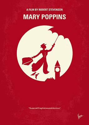 London Digital Art - No539 My Mary Poppins Minimal Movie Poster by Chungkong Art
