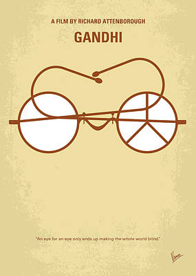 Hindu Digital Art - No543 My Gandhi Minimal Movie Poster by Chungkong Art