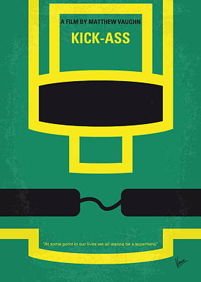 Kick Digital Art - No544 My Kick-ass Minimal Movie Poster by Chungkong Art