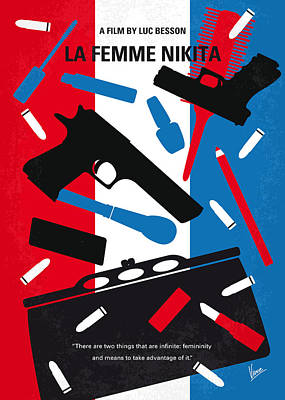 No545 My La Femme Nikita Minimal Movie Poster Art Print by Chungkong Art